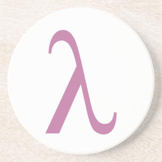 LGBT Pink Lamda Symbol Drink Coaster
