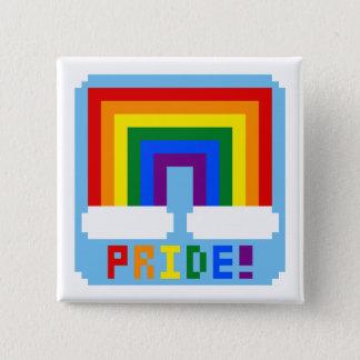 LGBT+ Pixel Pride 15 Cm Square Badge
