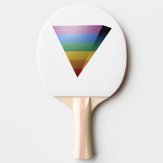 LGBT PRIDE 3D TRIANGLE PING PONG PADDLE