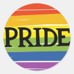 LGBT pride Classic Round Sticker