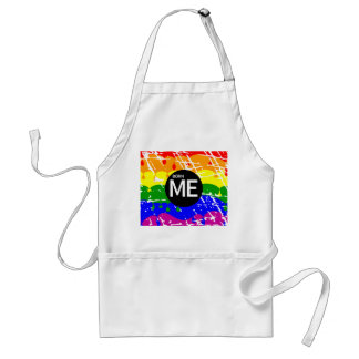 LGBT Pride Flag Dripping Paint Born Me Standard Apron