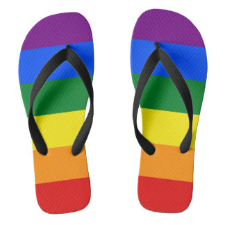 LGBT Pride Flag Rainbow Colors Flip Flops