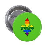 LGBT pride fleur-de-lis 6 Cm Round Badge