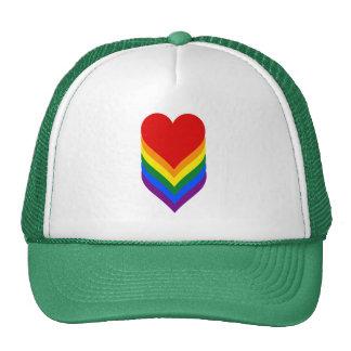 LGBT pride heart Trucker Hat