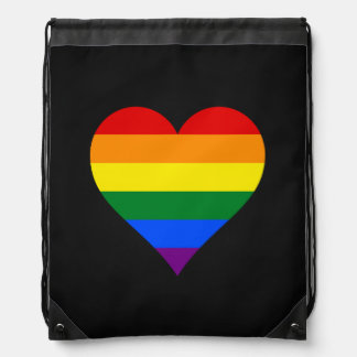 LGBT pride hearts Backpack Drawstring Backpack