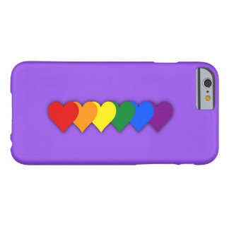 LGBT pride hearts Barely There iPhone 6 Case