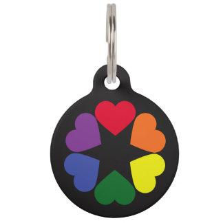 LGBT pride hearts Pet Tag