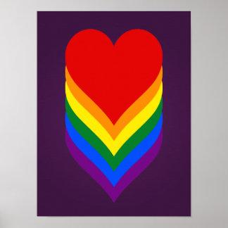 LGBT pride hearts poster