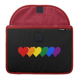 LGBT pride hearts Sleeves For MacBooks