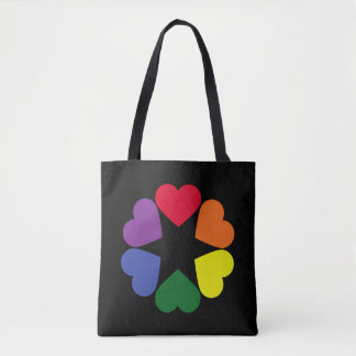 LGBT pride hearts Tote Bag