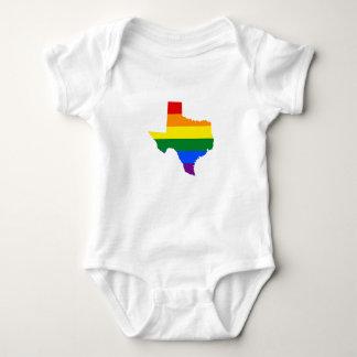 LGBT pride map of Texas Baby Bodysuit