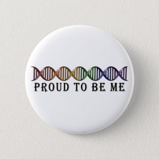 LGBT Pride Rainbow DNA 6 Cm Round Badge