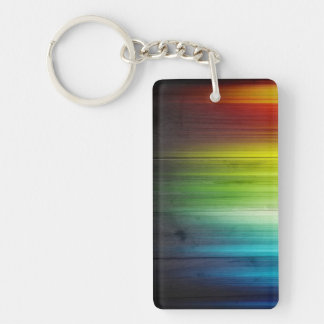 LGBT Pride Rectangle (single-sided) Keychain