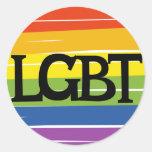 LGBT pride Round Stickers