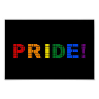 LGBT pride text sign Poster