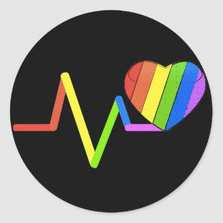 LGBT Pulse Orlando Tribute #LoveWins Classic Round Sticker