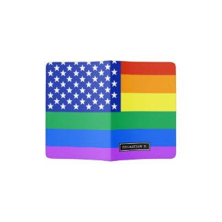 LGBT Rainbow American Flag Passport Holder