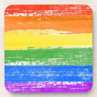 LGBT RAINBOW FLAG PAINT COASTER