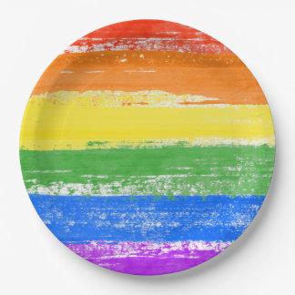 LGBT RAINBOW FLAG PAINT PAPER PLATE