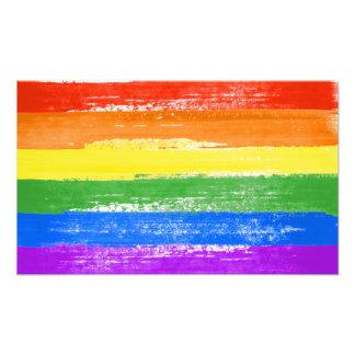 LGBT RAINBOW FLAG PAINT PHOTO PRINT