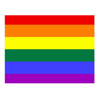 LGBT Rainbow Flag Postcard