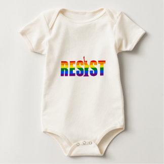 LGBT Rainbow Flag Resist Gay Pride Equal Rights Baby Bodysuit