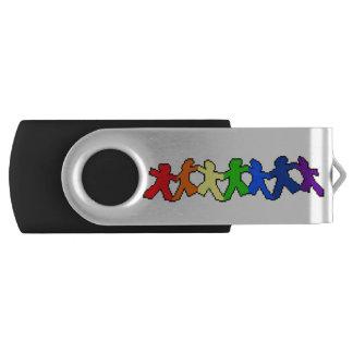 LGBT Rainbow Paper Dolls USB Drive