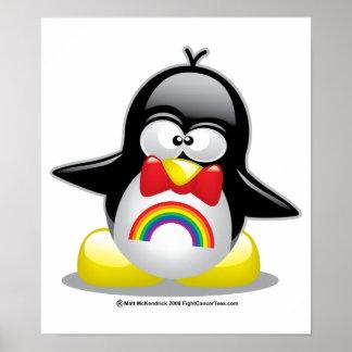 LGBT Rainbow Penguin Poster