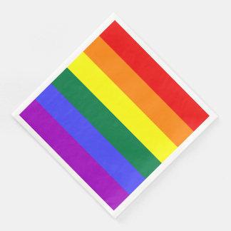 LGBT Rainbow Pride Flag Standard Dinner Napkin Paper Napkin