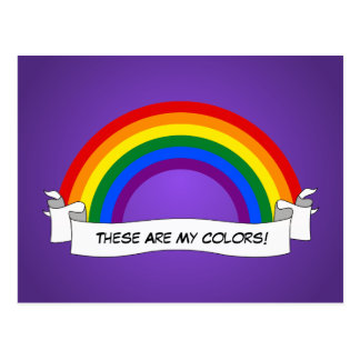 LGBT rainbow pride  Postcard