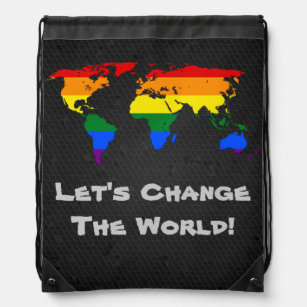 Bisexual pride backpacks zazzle lgbt rainbow pride world map backpack gumiabroncs Image collections