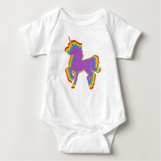 LGBT Rainbow Unicorn Baby Bodysuit