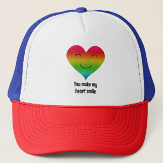 LGBT rainbow you make my heart smile Trucker Hat
