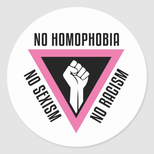LGBT - Raised fist in Pink triangle Classic