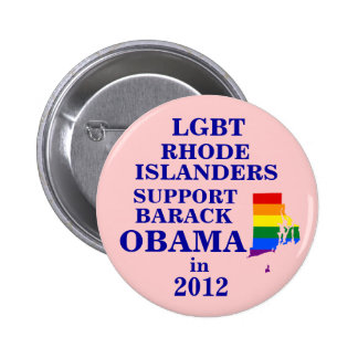 LGBT Rhode Islanders for Obama 2012 Buttons