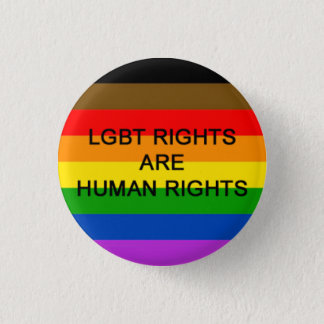LGBT Rights Are Human Rights Badge (Philly Flag)