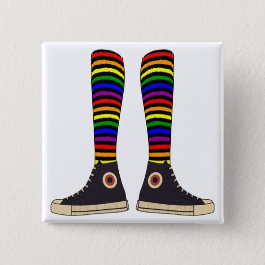 LGBT Socks 15 Cm Square Badge