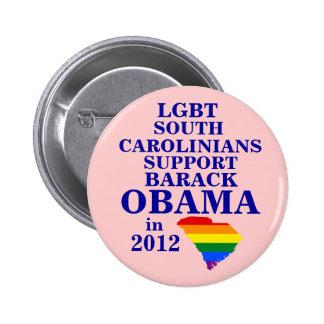 LGBT South Carolinians for Obama 2012 Buttons