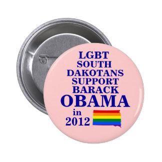 LGBT South Dakotans for Obama 2012 Pin