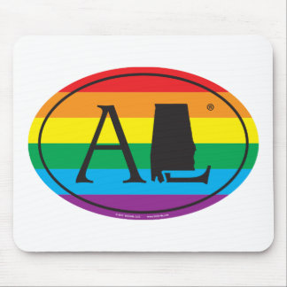 LGBT State Pride Euro: AL Alabama Mouse Mat
