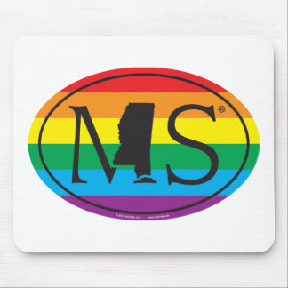 LGBT State Pride Euro: MS Mississippi Mouse Mat
