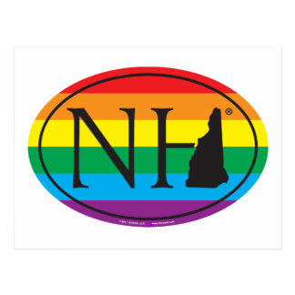 LGBT State Pride Euro: NH New Hampshire Postcard