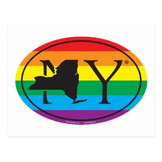 LGBT State Pride Euro: NY New York Postcard