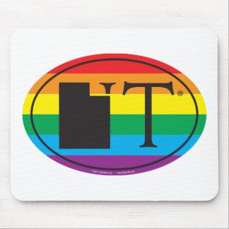 LGBT State Pride Euro: UT Utah Mouse Mat