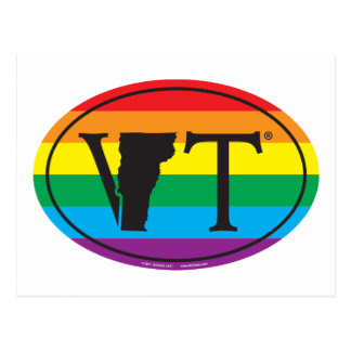 LGBT State Pride Euro: VT Vermont Postcard