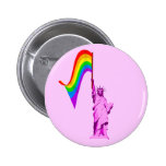 LGBT Statue of Liberty Button