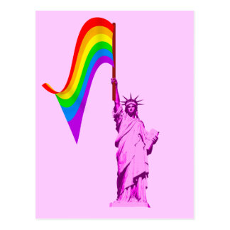 LGBT Statue of Liberty Postcard
