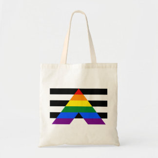 LGBT straight ally flag Budget Tote