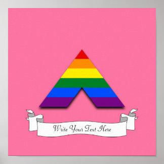 LGBT straight ally pyramid symbol Poster