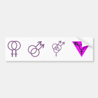 LGBT-Symbols Sticker Bumper Sticker